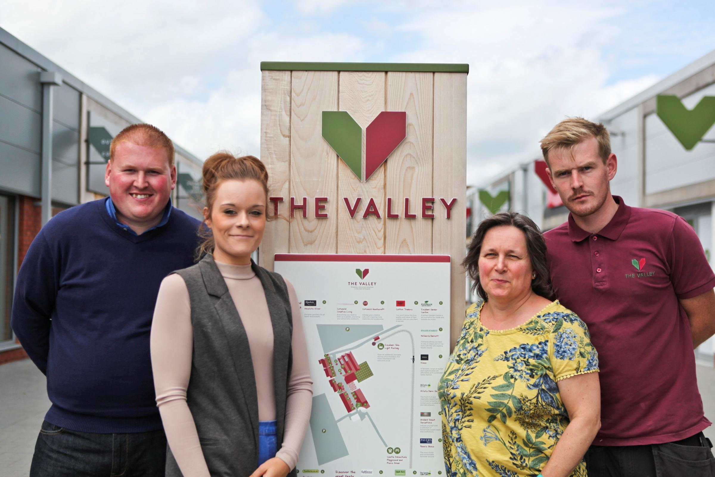 TRAINING: Paul James, facilities manager at The Valley, Daniel James of The Valley's site team, Rachel Evans, lead teacher of Outreach at the Vale of Evesham School and Anna Phillips, parent of child with Autism.