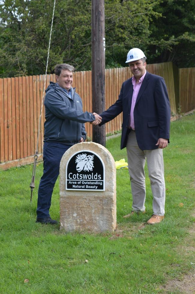 Andrew Lord, planning and landscape officer, Cotswolds Conservation Board (left) and Peter Heming, managing director, Heming Group.