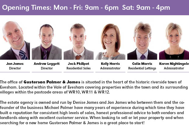 Evesham Journal: Gusterson Palmer & James
