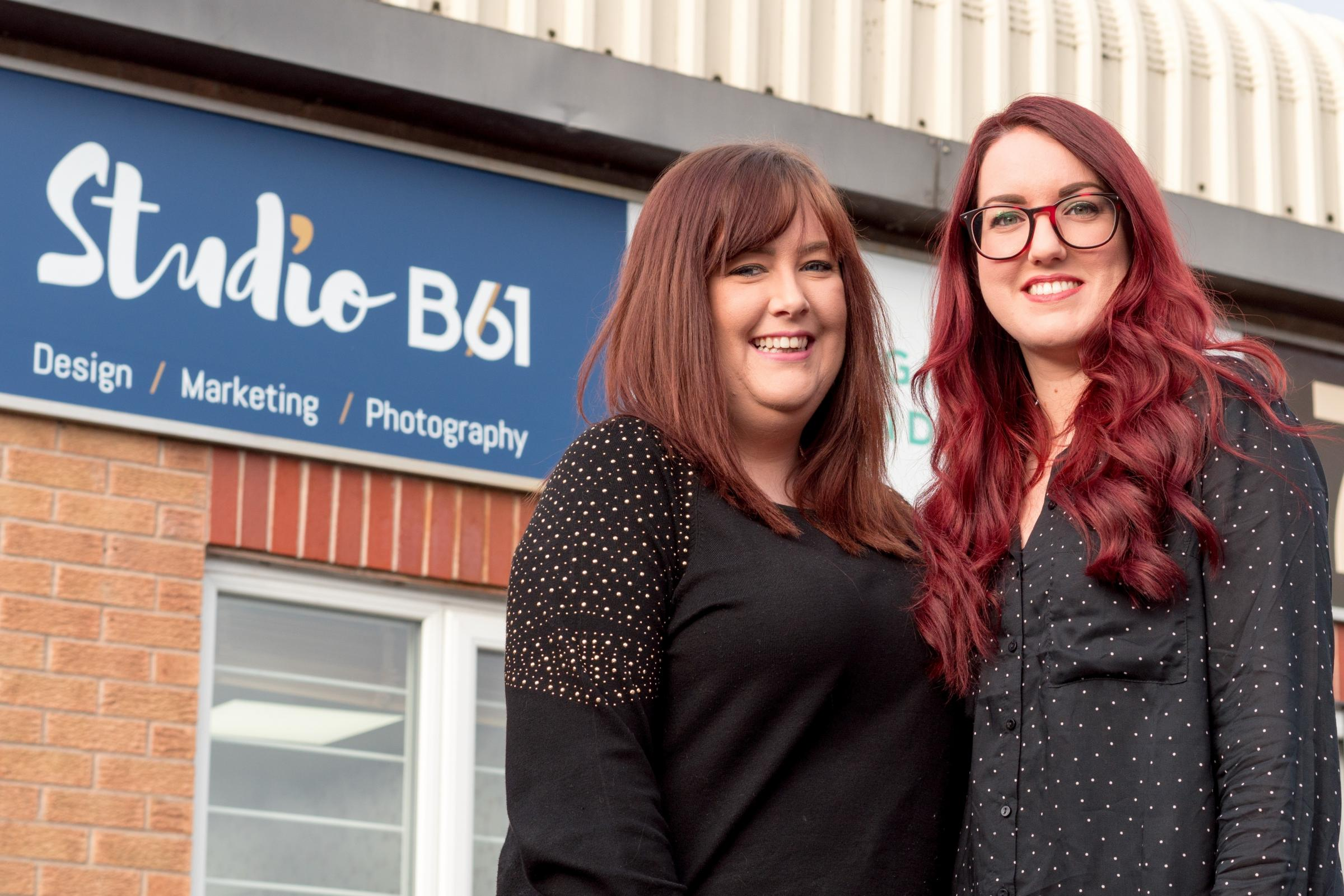 BUSINESS BOOST: Hannah Dudley and Sian Conway, co-directors of the new Studio B61 marketing agency, were given a boost by the Enterprising Worcestershire programme. Hamish Gill
