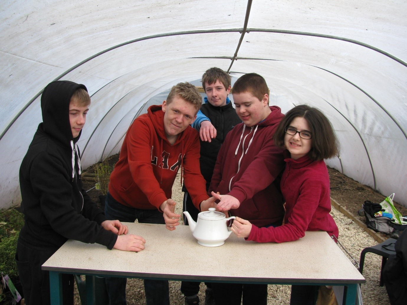 APPEAL: Horticulture students at Pershore High School.