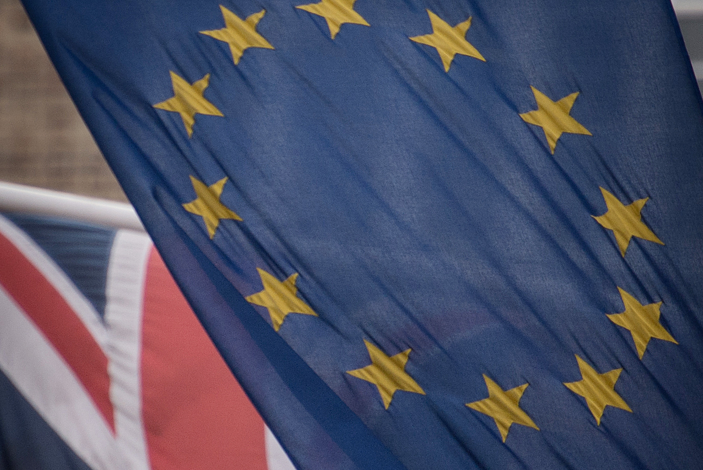 Embargoed to 0001 Thursday March 29  File photo dated 17/2/2016 of EU and  UK flags flying. Voters are more pessimistic about Brexit, but few have changed their minds about whether the UK should remain part of the European Union, accordin