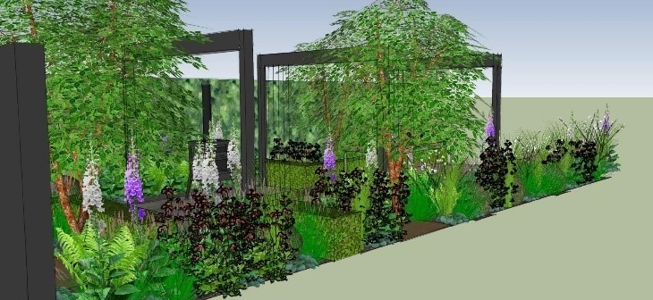 CHALLENGE: Keyscape Gardens' design for the APL Avenue Show Garden competition