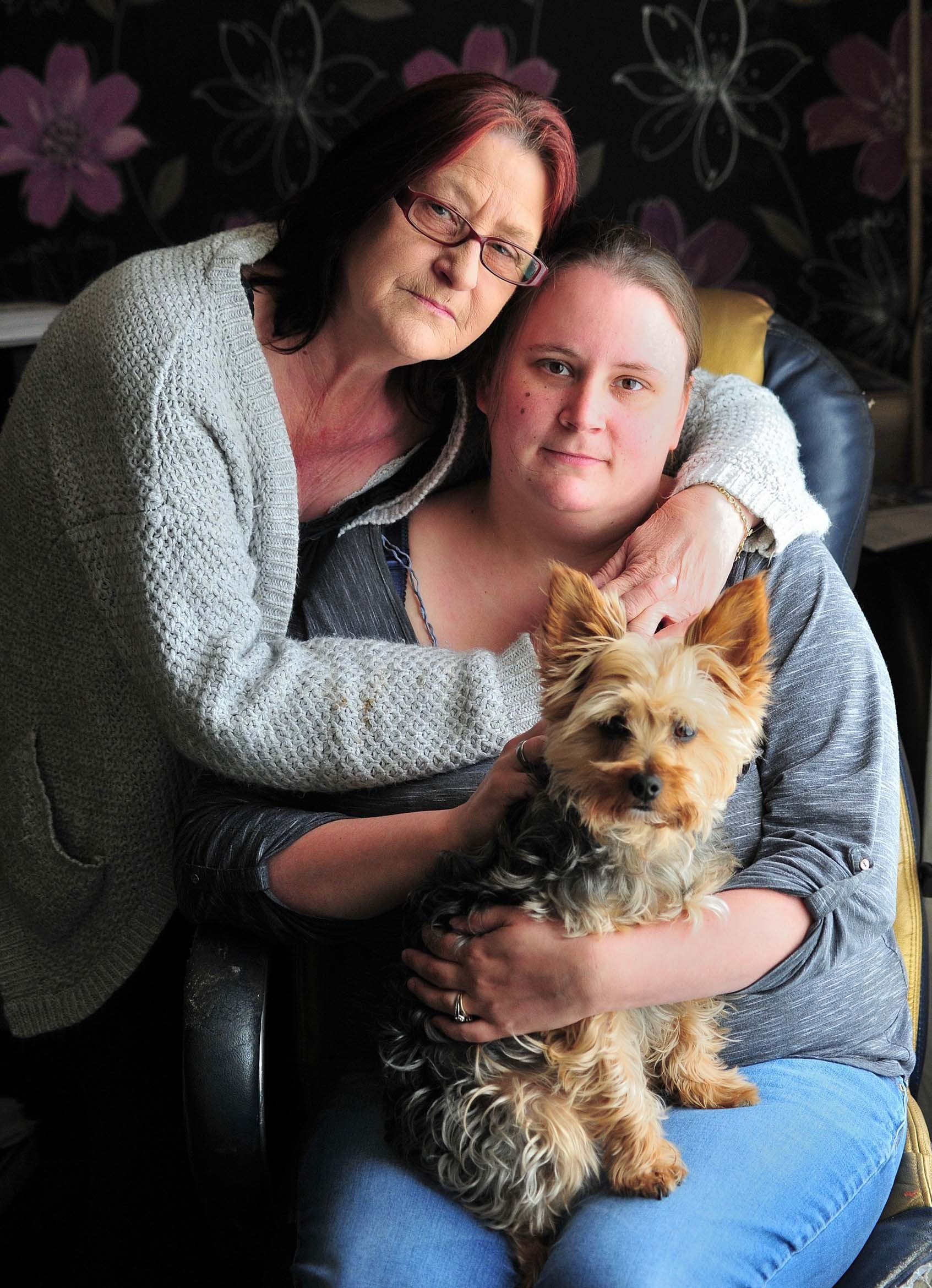 DELAYS: Katie Eaton, of Mersey Road, Worcester, with her mum, Pauline, and their dog, Pip.