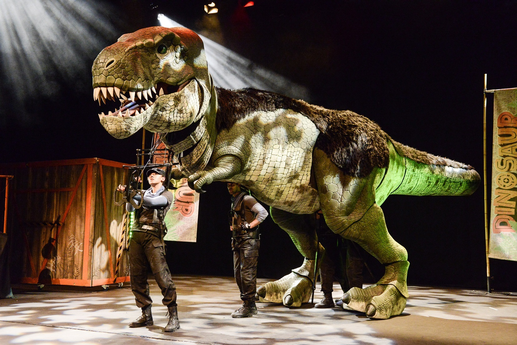 DINOFUN: Even T-Rex is in on the act. Pic by Robert Day