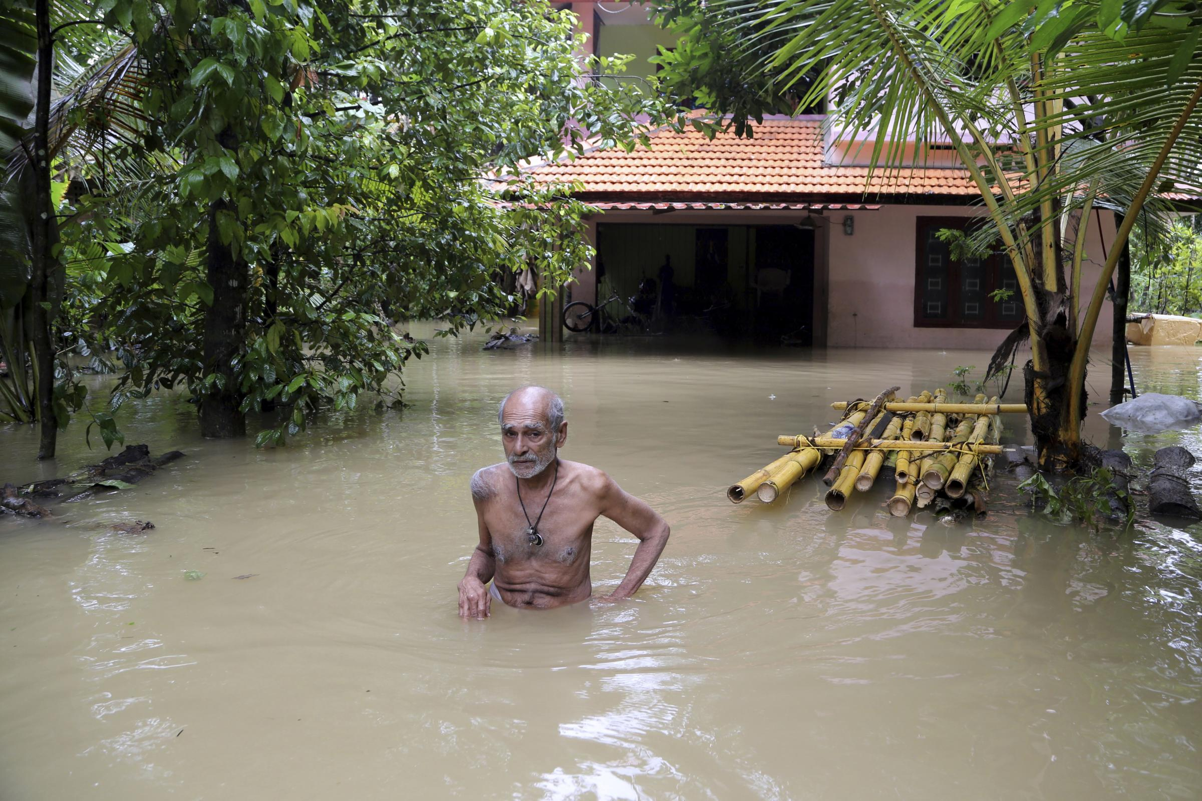Image result for kerala flood new married couple