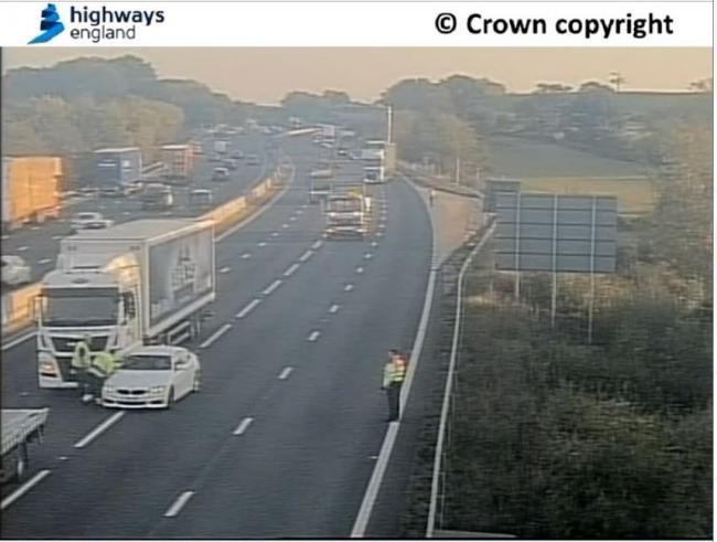 Highways England tweeted this photo of the scene on M5 northbound
