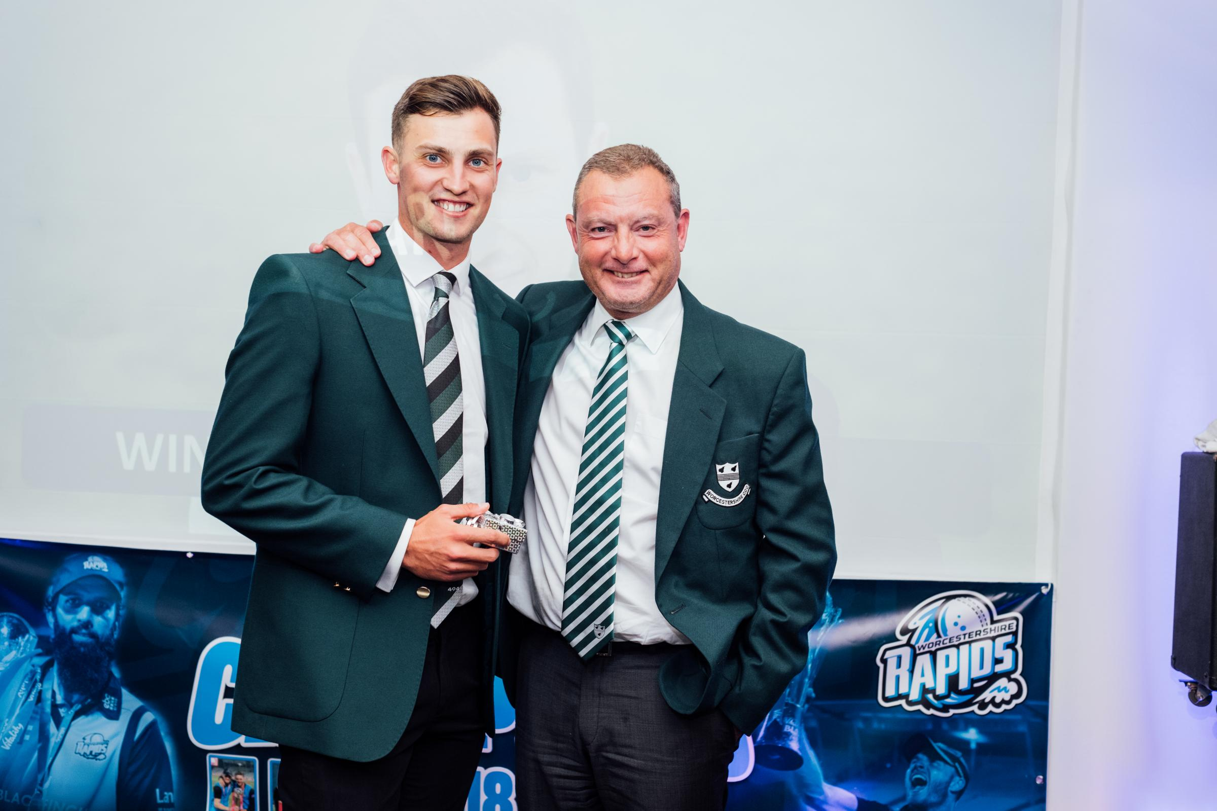Ed Barnard (left) with Worcestershire head coach Kevin Sharp