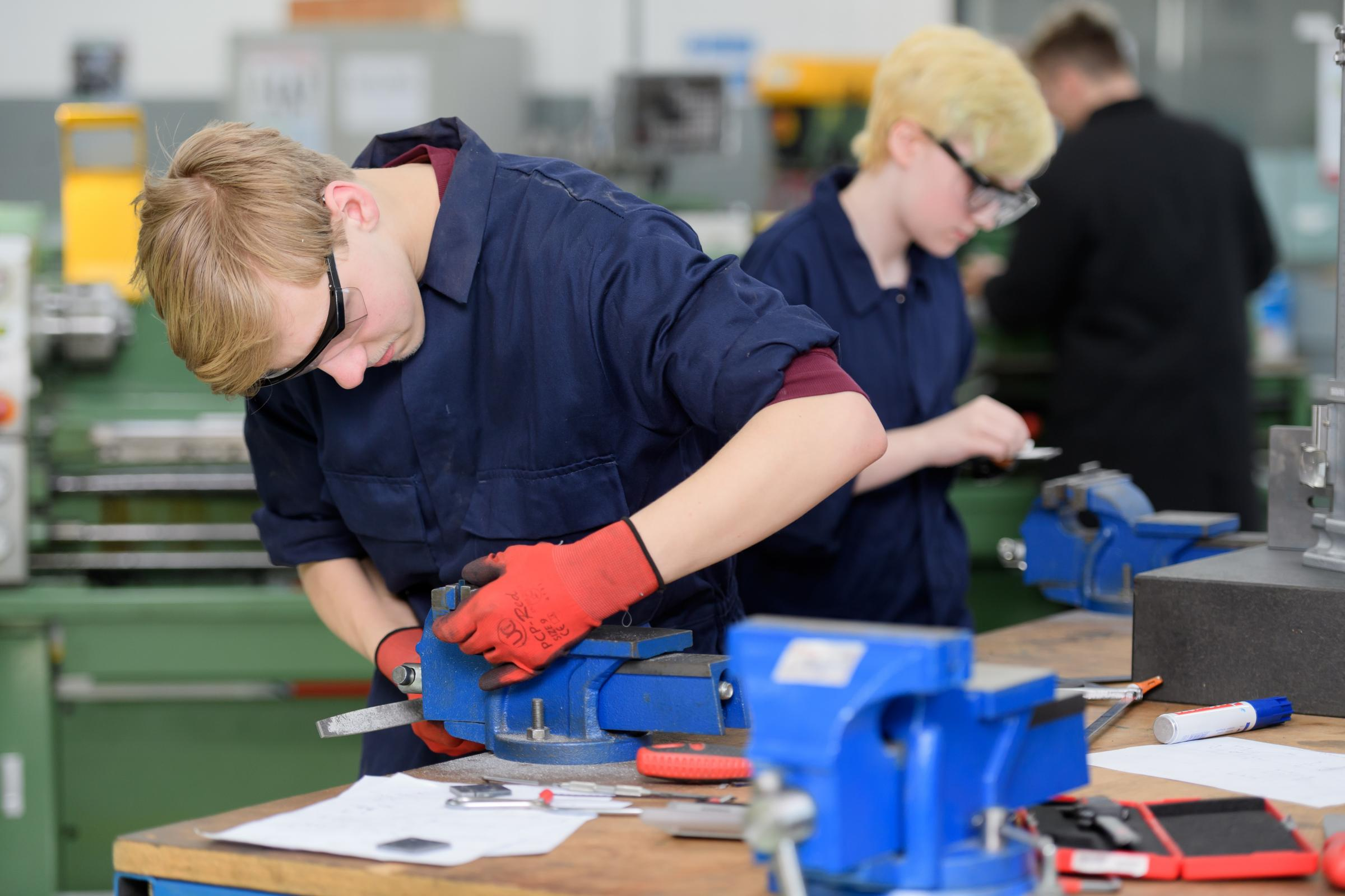 Engineering students at Evesham College