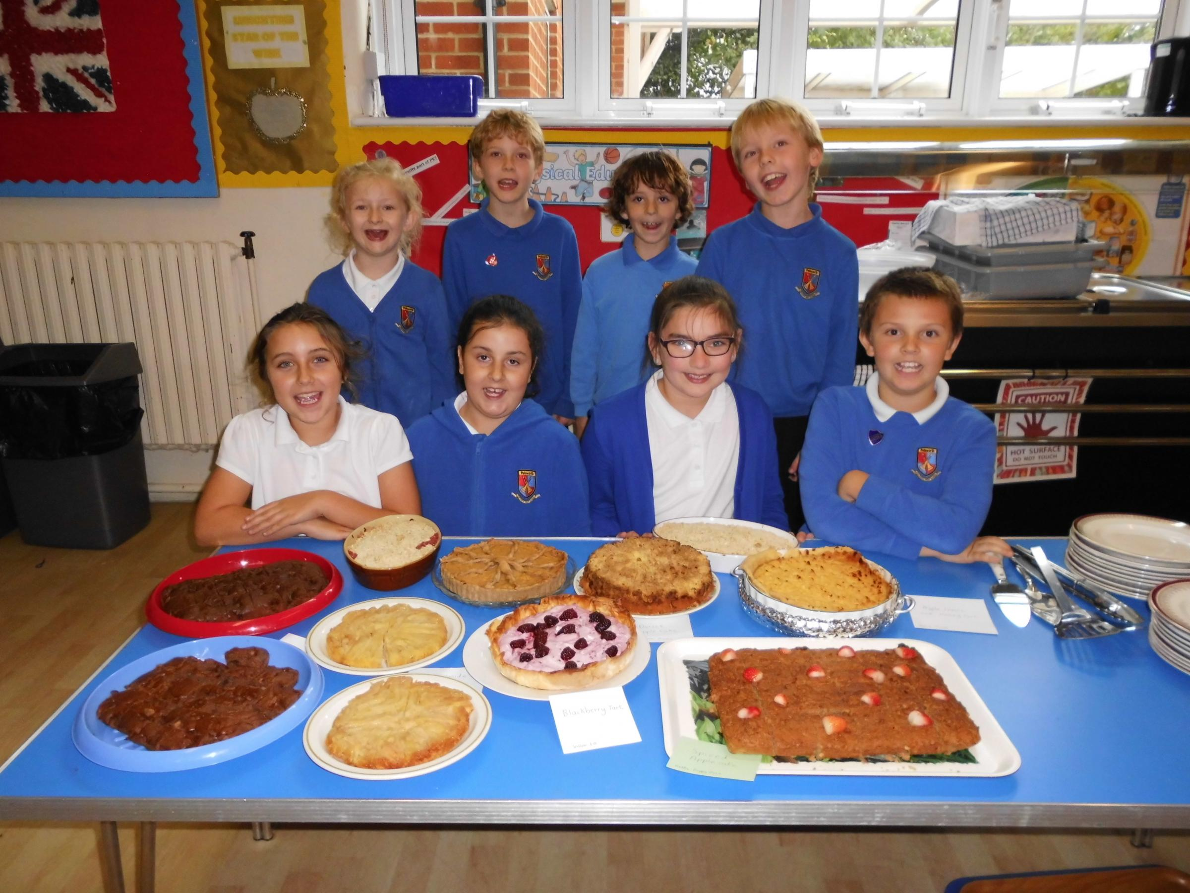 Pebworth First School pupils turn harvest fruit into yummy puddings