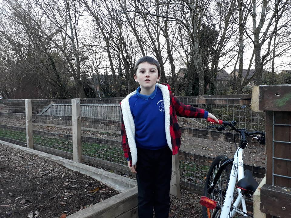 CONCERN: Jamie Ayres, aged 8 is determined to save the Charity Brook Park BMX track in Evesham after the council said it has seen better days