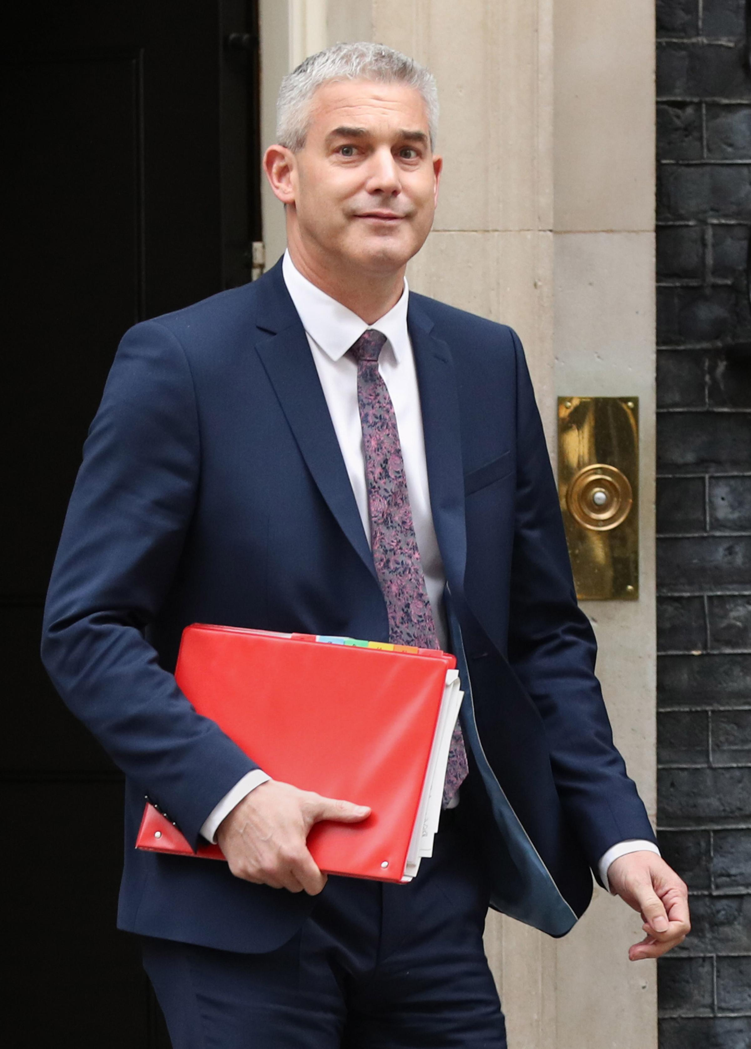 Brexit Secretary Stephen Barclay leaves 10 Downing Street in London following a meeting of the Cabinet. Picture: Jonathan Brady