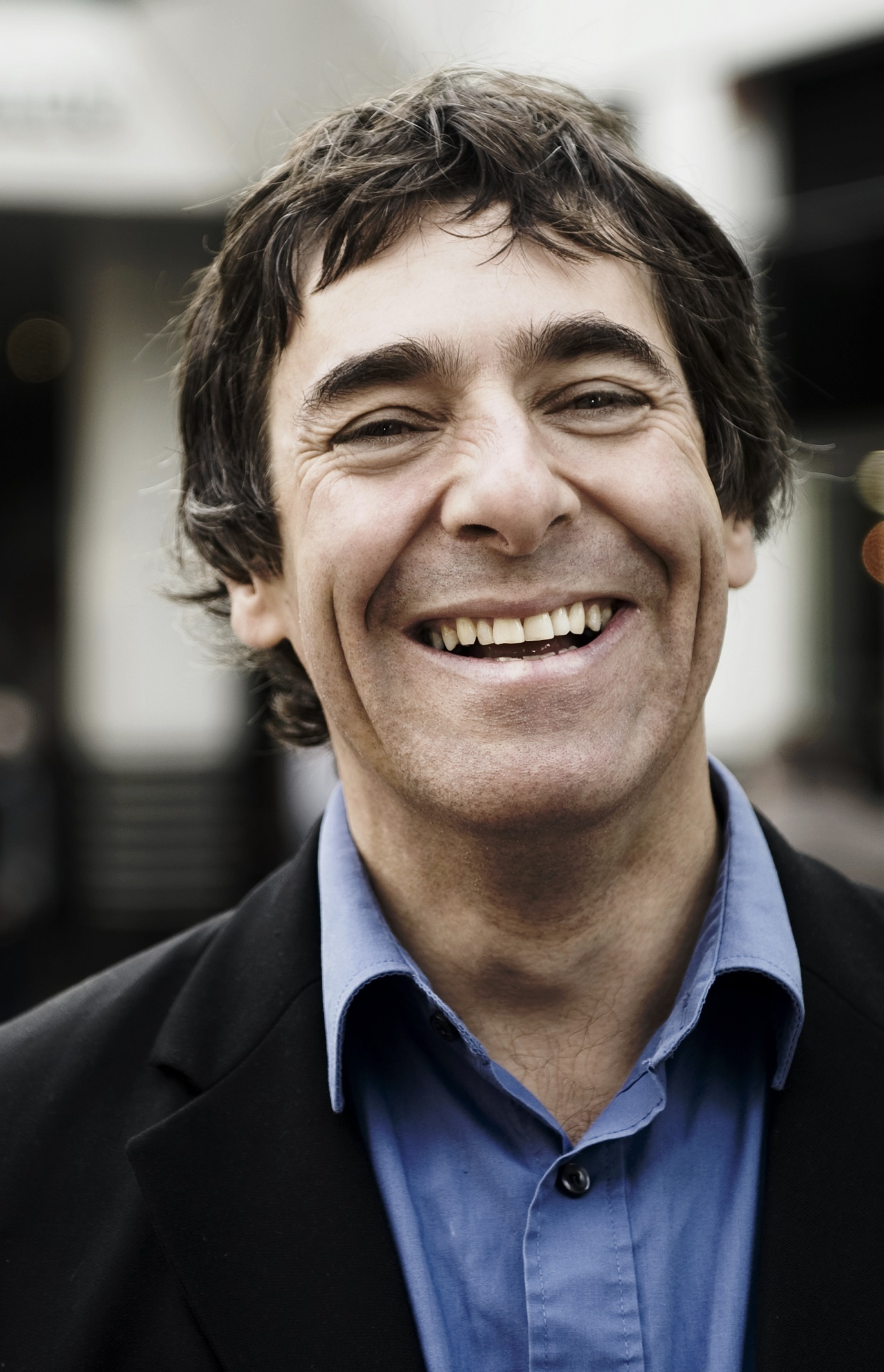 OPTIMISTIC: Mark Steel says, 'don't worry', despite everything.