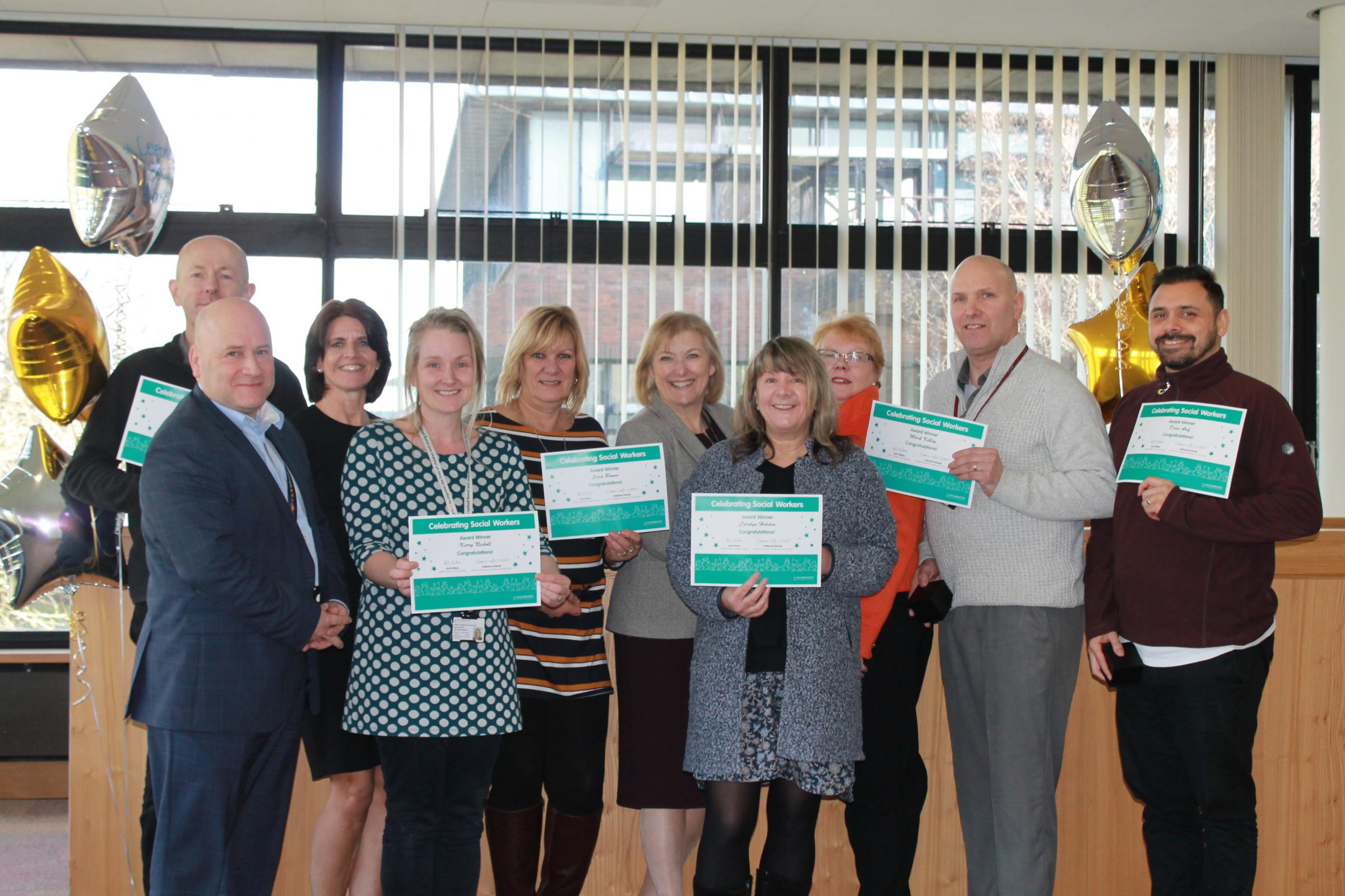 Social workers claim top council awards
