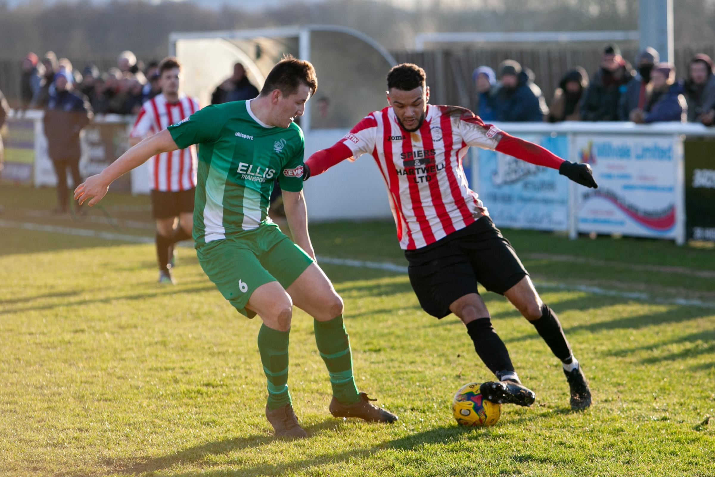 MR GOALS: Kane Simpson on the attack against Slimbridge. Pic: staurtpurfield.co.uk