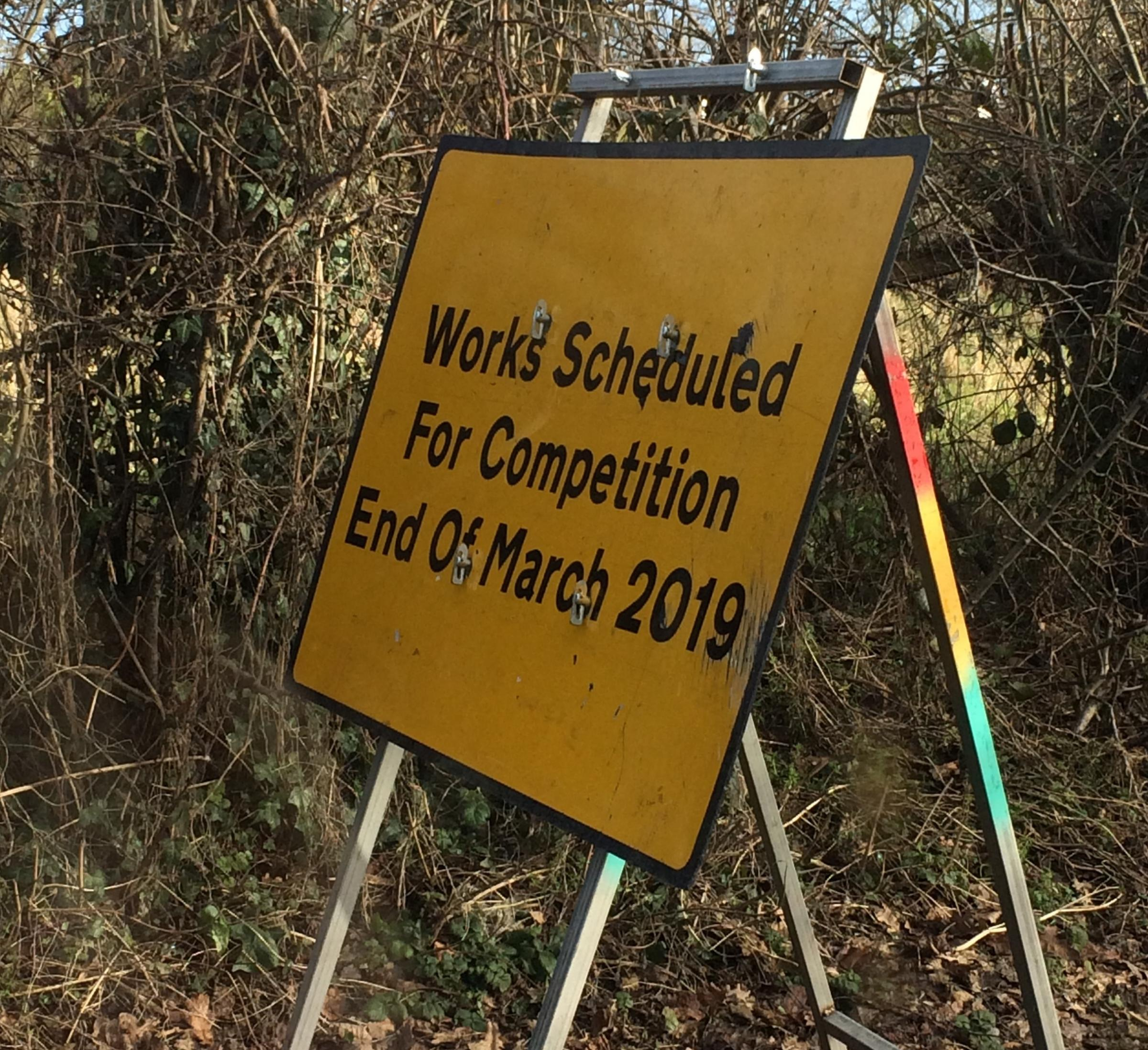 The road sign near Hereford. Photo: Howard Goold.