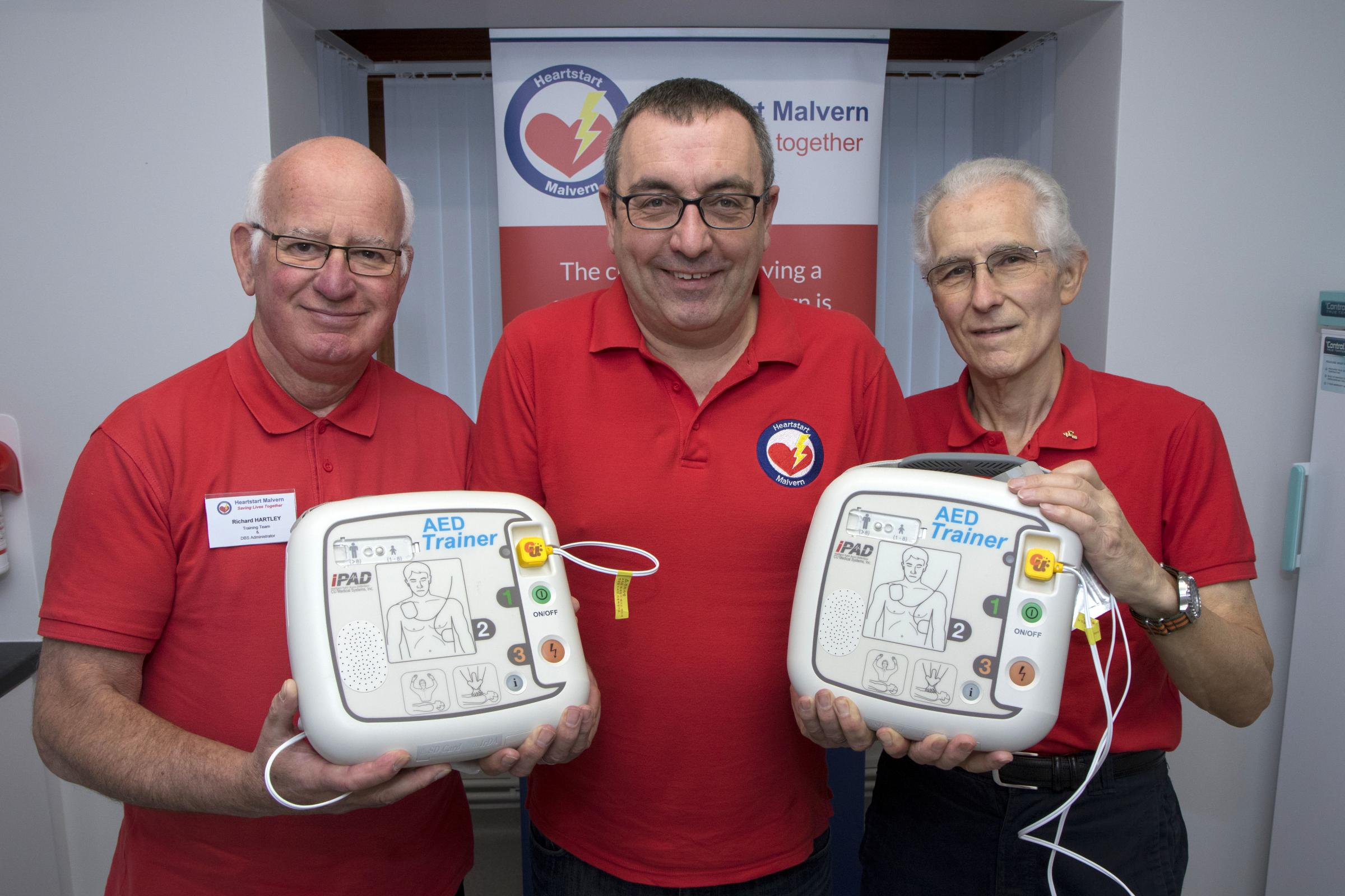 Richard Hartley, Richard Vakis-Lowe and Tony Palmer from Heartstart Malvern.