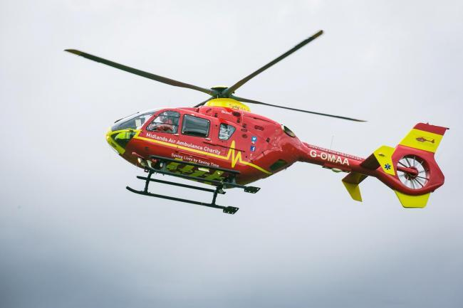 The air ambulance has been called to Upper Moor