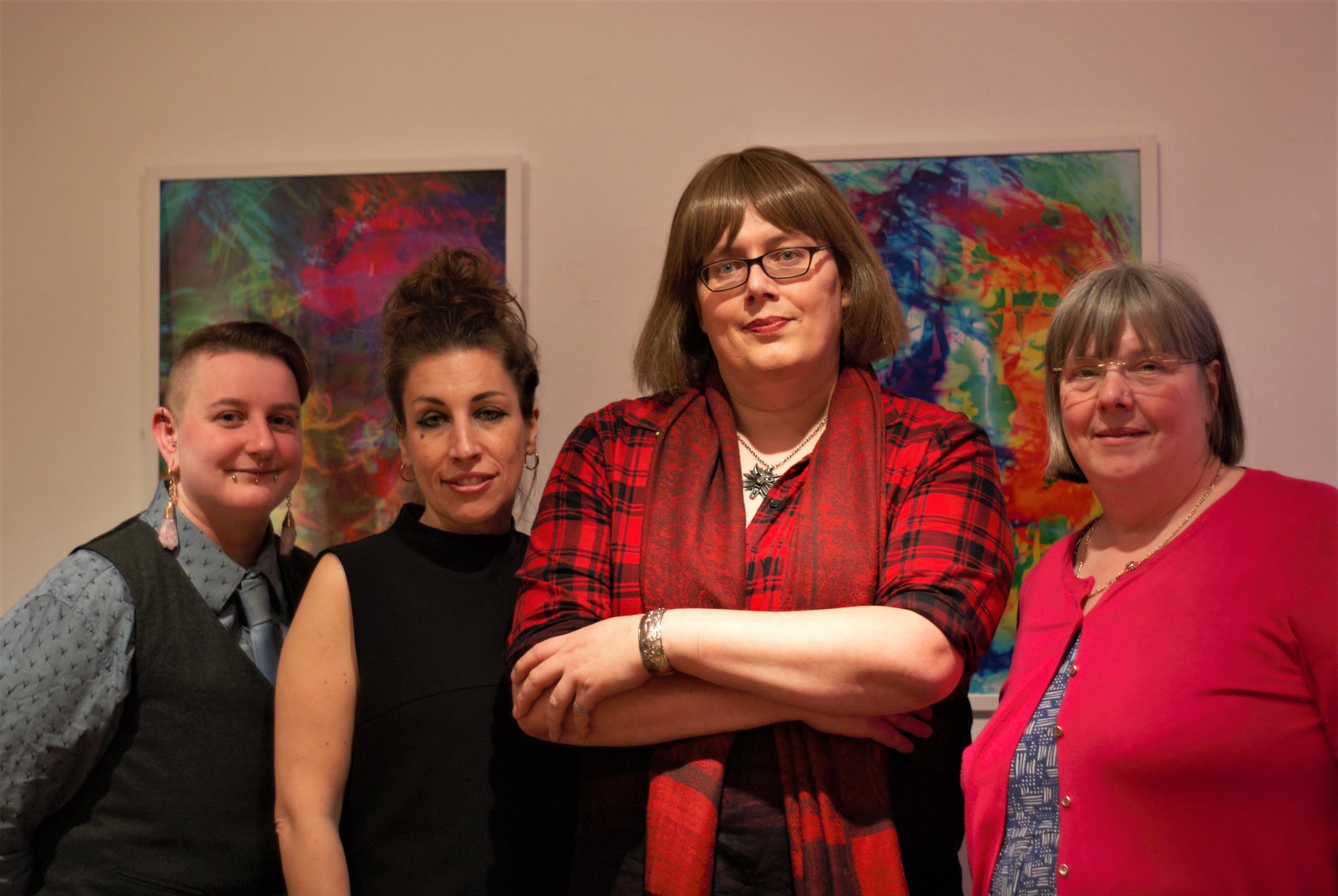 LAUNCH: Samantha-Jane Eagle, Hannah Phillips, Rachel Troth and Councillor Lucy Hodgson at the launch event