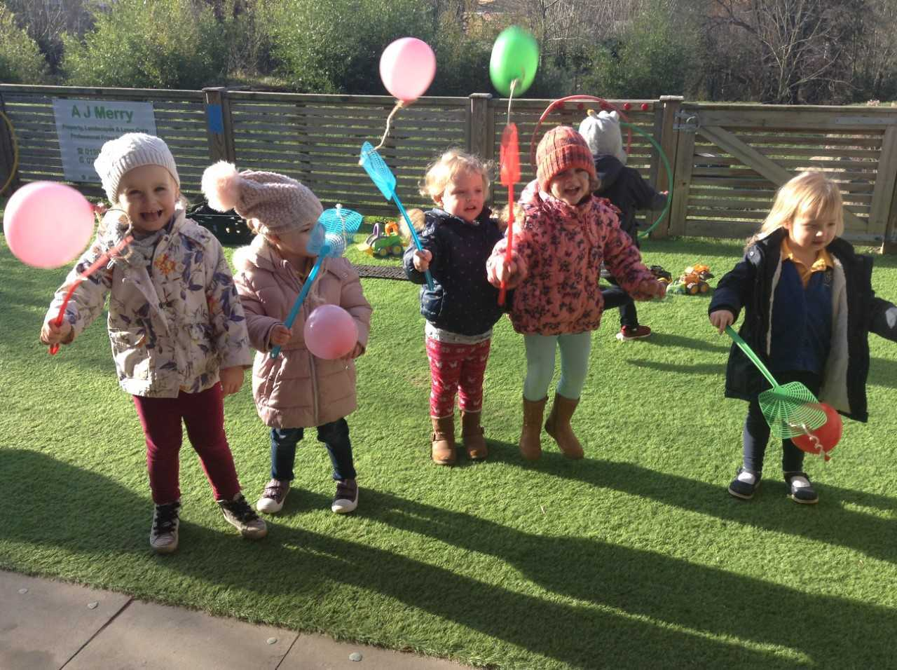"""Children at Evesham Nursery School are happy and active learners"""