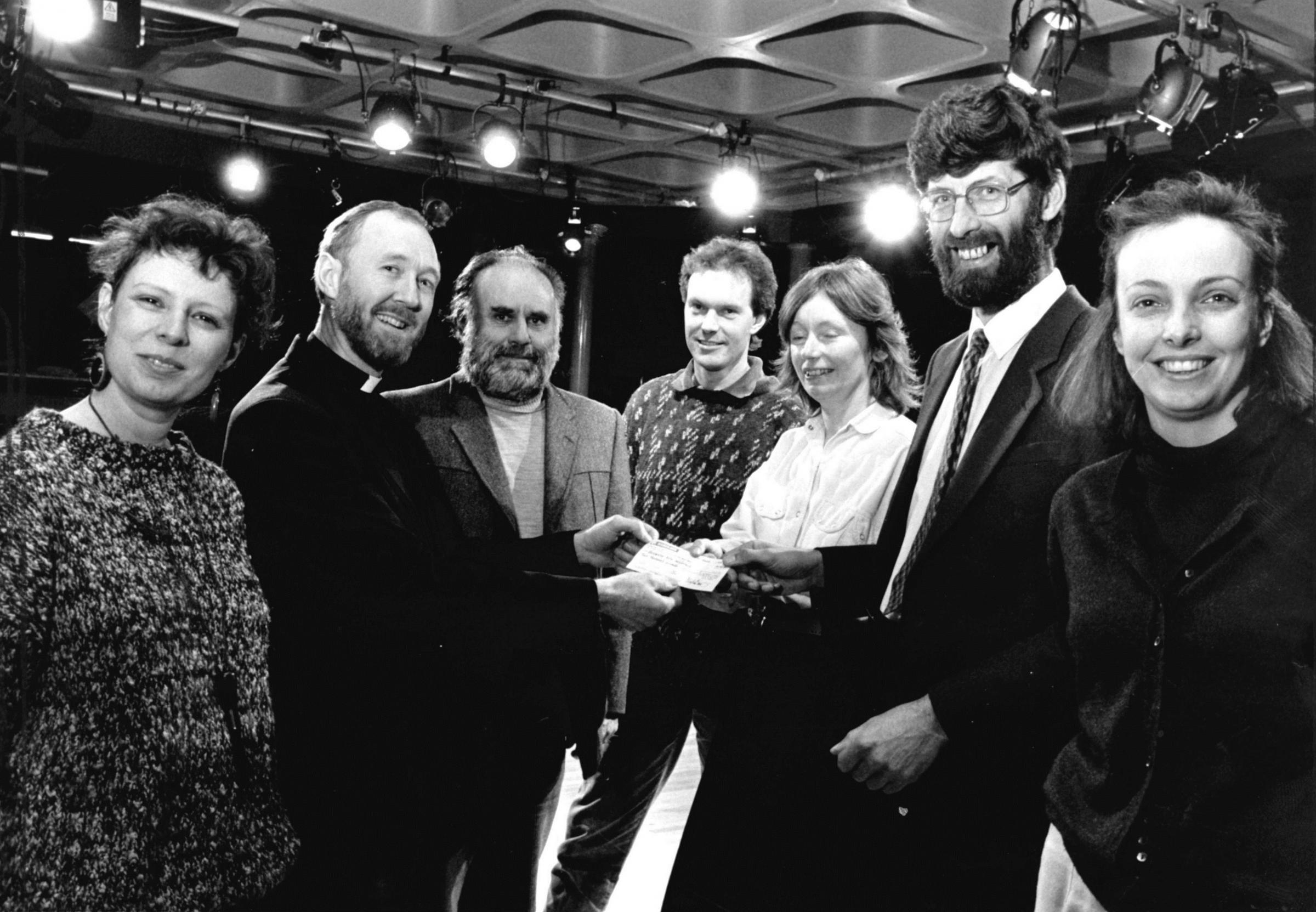 TODAY'S picture from the vault of the Worcester News, when Worcester Arts Workshop revamped its theatre facilities. Architect Martin Baines is seen handing over a donation for £4,000 for new lighting to Rev John Everest, chairman of the managing