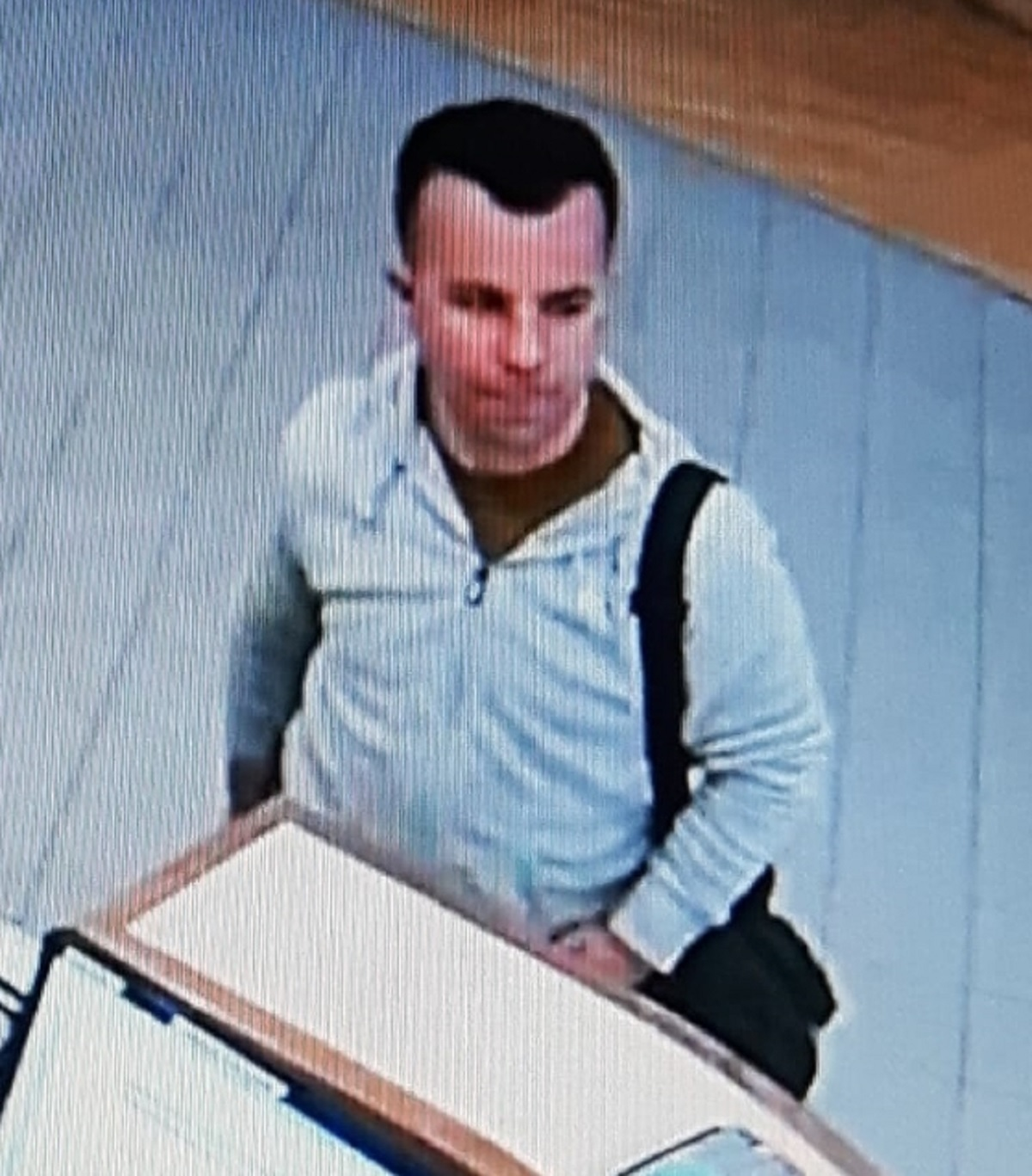 CCTV: The image of the man police would like to speak to. Picture: West Mercia Police