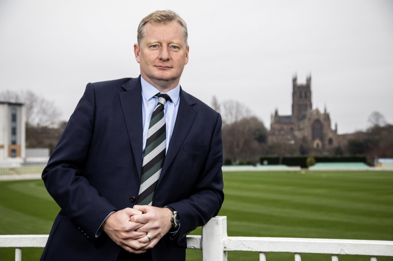 Worcestershire's CEO Matt Rawnsley at the Worcestershire's Blackfinch New Road Ground, Worcester. Picture: Tony Marsh