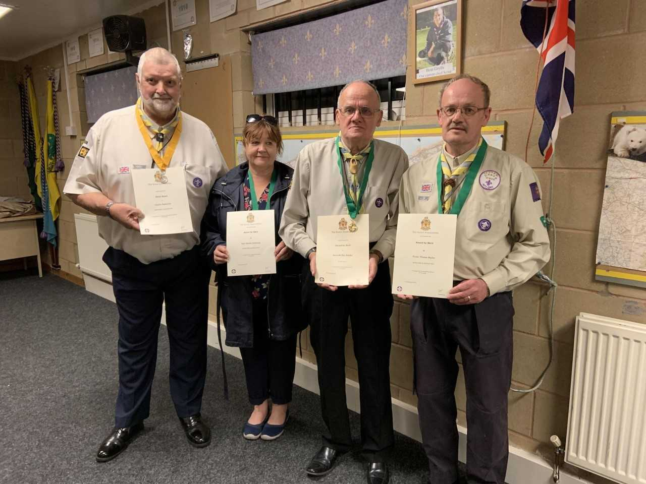 AWARDS: Members of the 1st Littleton Scout Group