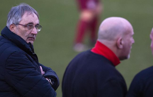 GO WEST! Pershore Town manager Les Jones (left) will be presiding over a West Midlands (Regional) League campaign in 2019-20. Pic: Paul France.