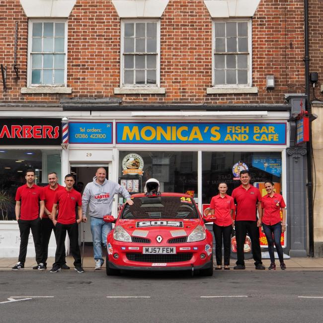 DREAM: Chris Carter with his new car, and the team from Monica's Fish Bar Photo by CPe FOTO
